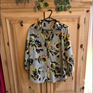 The Limited floral spring blouse Sz L $20